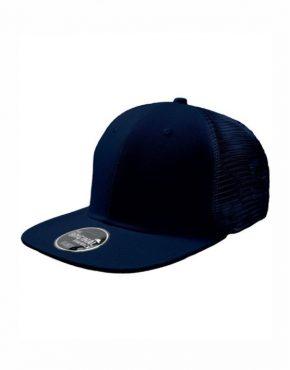 Navy Καπέλο τζόκεϋ με φλατ γείσο