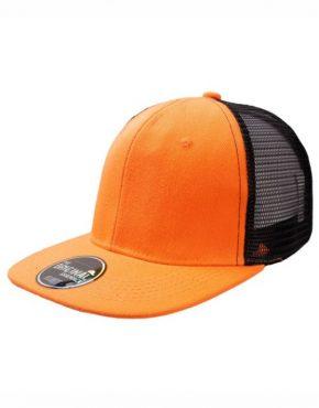 Πορτοκαλί Καπέλο τζόκεϋ με φλατ γείσο
