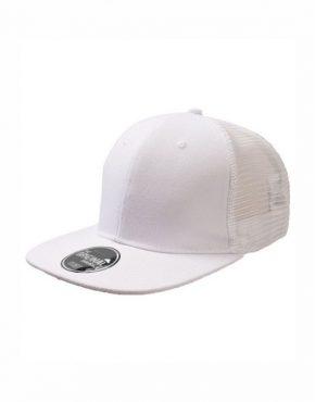 Λευκό Καπέλο τζόκεϋ με φλατ γείσο