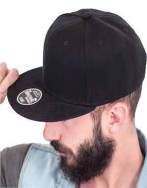 Μαύρο εξάφυλλο καπέλο 8BL45