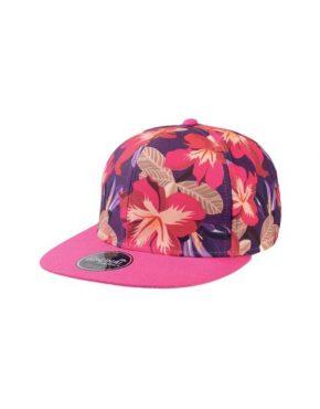 Fuchia flower Καπέλο τζόκεϋ με φλατ γείσο