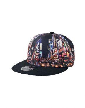 NEW YORK Καπέλο τζόκεϋ με φλατ γείσο