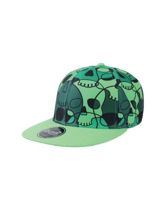 SKULL Flat jockey hat with visor