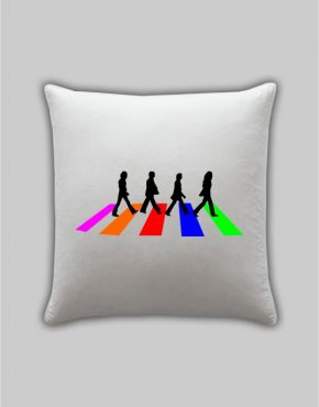 The Beatles road pillow