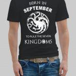 Born in September T-shirt
