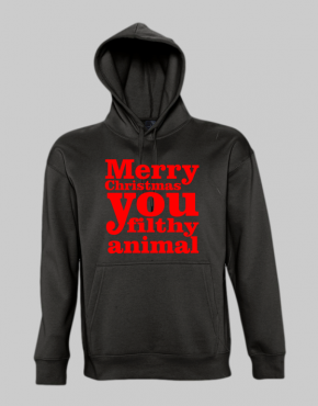 Merry christmas you filthy animal Hoodie