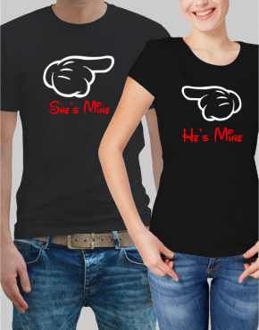 She's & He's mine Couple T-shirt