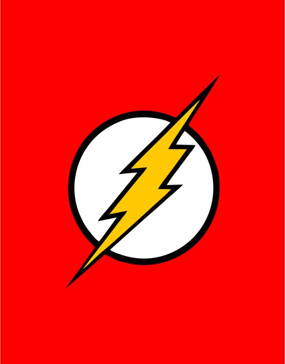 The Flash Logo Kids Sweatshirt 2 on Superhero Coloring Pages