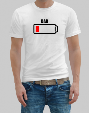 Battery dad t-shirt