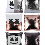 Marshmello dj Sequin Pillow
